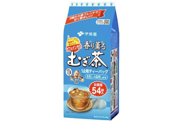 伊藤園の香り薫るむぎ茶ティーバッグ