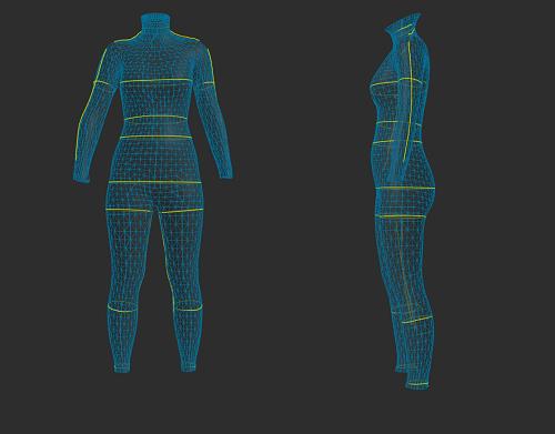 ZOZOスーツで計測した妊娠前の体型の立体図