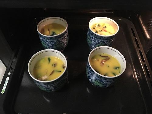 ヘルシオで調理する前の茶碗蒸し