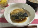 皿に盛られたサバの味噌煮