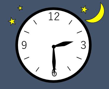 時計の針が2時半を指している