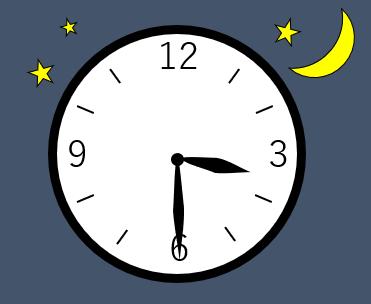 時計の針が3時半を指している