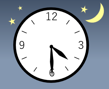 時計の針が4時半を指している