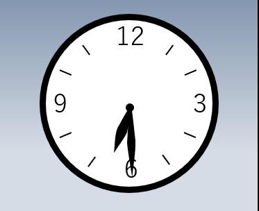 時計の針が6時半を指している