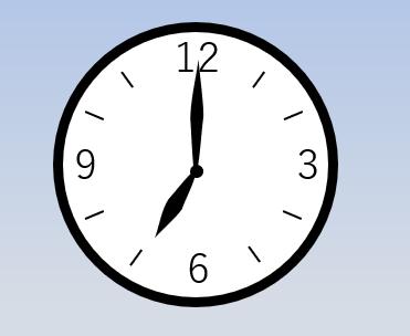 時計の針が7時を指している