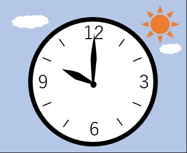 時計の針が10時を指している