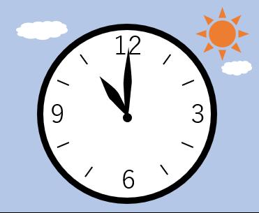 時計の針が11時を指している