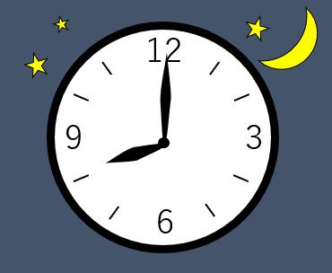 時計の針が8時を指している