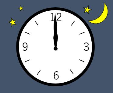 時計の針が12時を指している