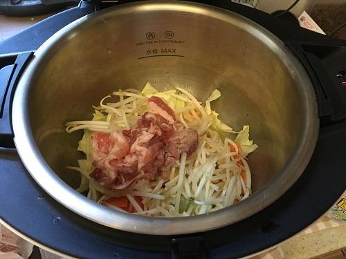 ホットクックで調理する前のちゃんぽん(その1)