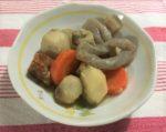 煮物が皿に盛られている