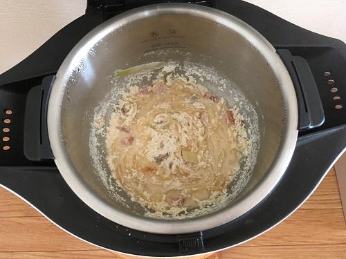ホットクックで調理した後のカルボナーラ(その4)