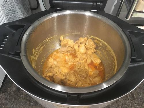 ホットクックで調理した後のタンドリーチキン