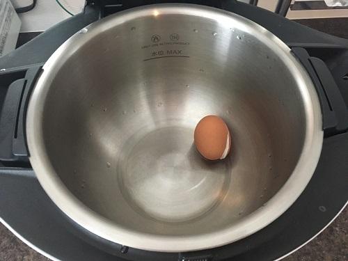ホットクックで調理した後のゆで卵