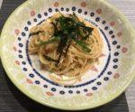 皿に盛られたたらこスパゲッティ