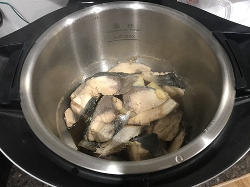 ホットクックで調理した後のぶり大根