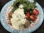 皿に盛られたホットクックで作られたチキン南蛮